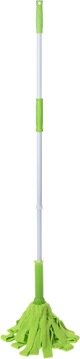 Швабра Sunllon Твист, цвет: салатовый, серыйSLSUN1961Швабра Sunllon Твист идеально подходит для мытья всех типов напольных поверхностей. Насадка изготовлена из высококачественного нетканого материала, который обладает высокой износостойкостью, не царапает поверхности и отлично впитывает влагу. Металлическая ручка оснащена рельефной пластиковой вставкой для удобного использования швабры и имеет отверстие для подвеса.С такой шваброй ваши полы будут чистыми!Длина ручки: 119 см.