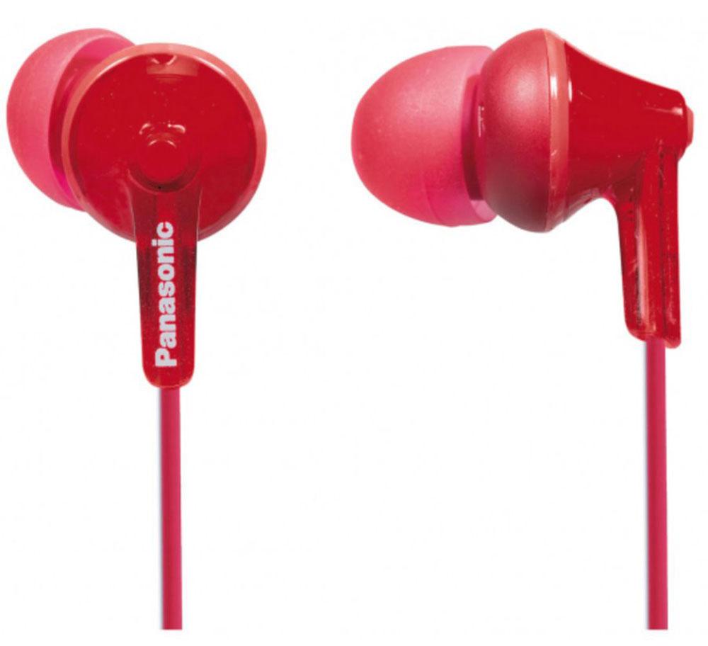 Panasonic RP-HJE125E, Red наушникиRP-HJE125E-RНовая модель наушников-вкладышей RP-HJE125, основана на эргономичном дизайне Ergofit, обеспечивающем комфорт при использовании. За качественное звучание отвечает динамик OctaRib. Корпус, провода и амбушюры выполнены в одной цветовой гамме, что подчеркивает единство дизайна.В комплект входят три пары амбушюров разного размера для максимального удобства пользователей.Модель поставляется в девяти цветах.