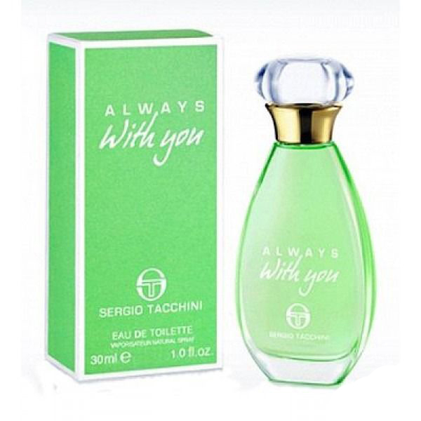 Sergio Tacchini Always With You Woman Туалетная вода, 30 мл12498Древесные, цитрусовые. Бергамот, лимон, фруктовые ноты, яблоко, кедр, мускус, сандаловое дерево, ландыш, роза.