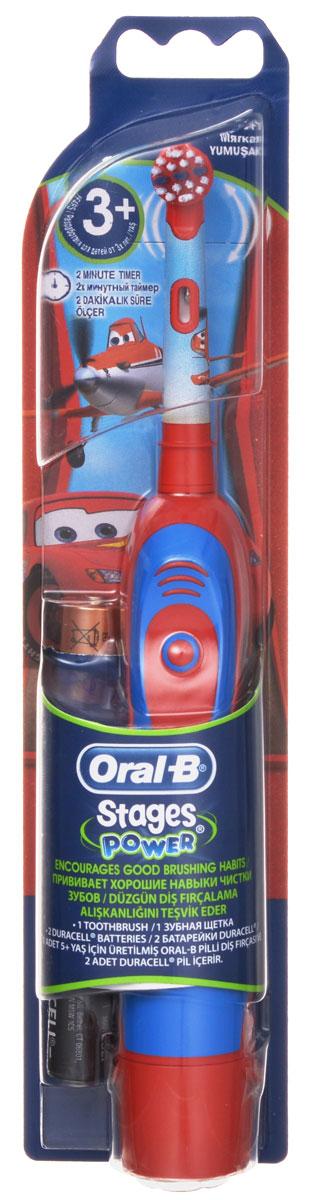 Braun Oral-B Stages Power DB4.510K Самолет детская электрическая зубная щеткаDB4010(DB4.510)_самолетДетская электрическая зубная щетка Braun DB4.510 обладает очень мягкими, расщепленными на концах щетинками, которые гарантируют очень бережную чистку зубов ребенка, а также массаж его нежных десен.Специальный дизайн:Детская электрическая зубная щетка Braun DB4010 (DB4.510) выполнена в специальном красочном дизайне, который невероятно привлекателен для каждого современного ребенка.