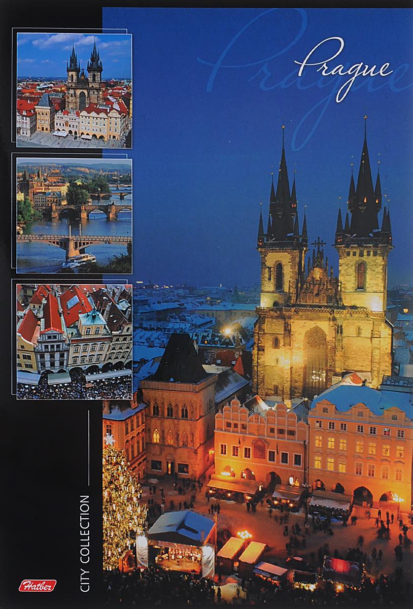 Hatber Тетрадь Prague 96 листов в линейку96Т4B4_ПрагаТетрадь Hatber Prague отлично подойдет для занятий школьнику или студенту или для различных записей.Обложка, выполненная из плотного картона, позволит сохранить тетрадь в аккуратном состоянии на протяжении всего времени использования. Лицевая сторона оформлена красочным изображением города Прага.Внутренний блок тетради, соединенный металлическими скобами, состоит из 96 листов белой бумаги в голубую линейку без полей.