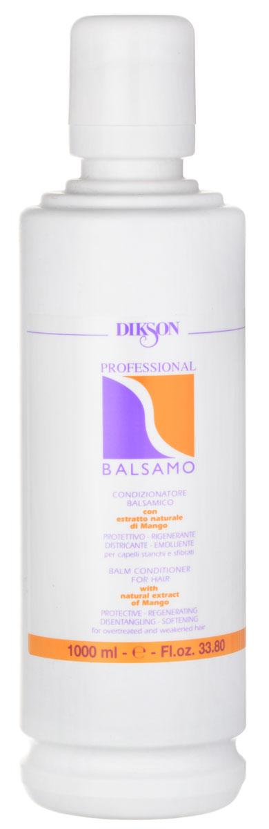Dikson Профессиональный бальзам-кондиционер Professional Balsam 1000 млPB.1Dikson Professional Balsam - косметическое средство, которое прекрасно сочетается с шампунями серии One's и рекомендован для ухода за волосами всех типов. В его основе лежит такой активный компонент, как вытяжка масла манго. Бальзам обеспечивает волосам питание и увлажнение, восстанавливает целостность гидролипидного слоя.