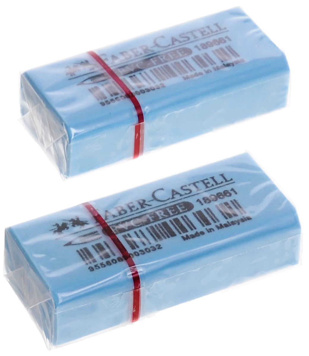 Faber-Castell Ластик флуоресцентный цвет голубой 2 шт263397_голубойЛастик флуоресцентный Faber-Castell станет незаменимым аксессуаром на рабочем столе не только школьника или студента, но и офисного работника. Аккуратный и не оставляет грязных разводов. Кроме того высококачественный ластик не содержит ПВХ. Не повреждает бумагу даже при многократном стирании.В наборе 2 ластика.