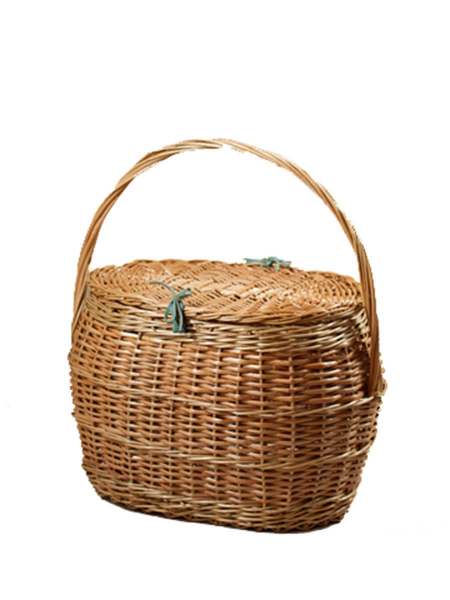 Корзина-переноска для кошки из лозы (плетеные дно и крышка) №2 41*30*51 - Переноски, товары для транспортировки