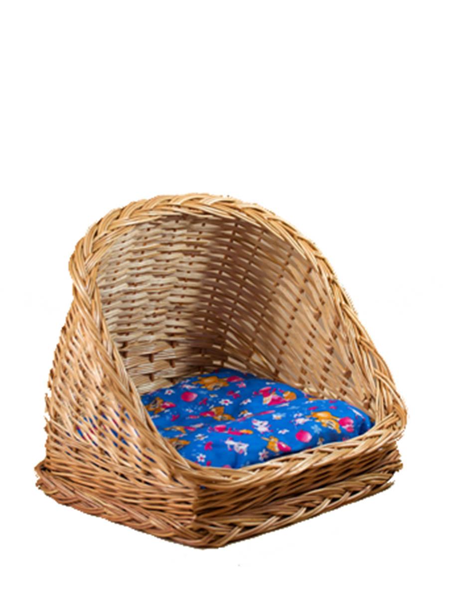 Лежак для животных из лозы Ракушка №2 40х36,5х35 плетеные корзины из лозы купить краснодар