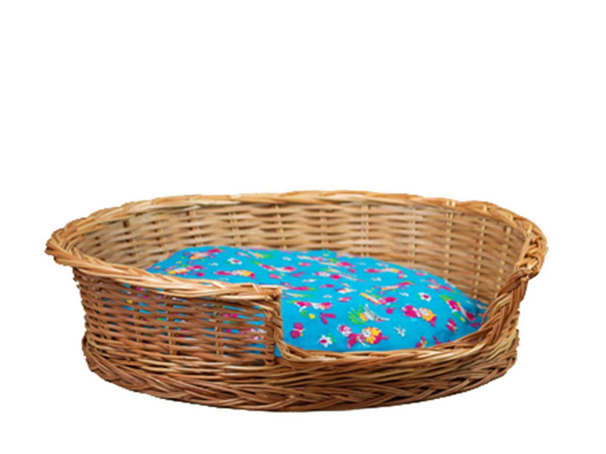 Корзина для животных Меридиан, из лозы, №3, 48,5 х 41 х 15 смАРТ 353Домик, плетеный из лозы. Ручная работа. Натуральный ивовый прут.
