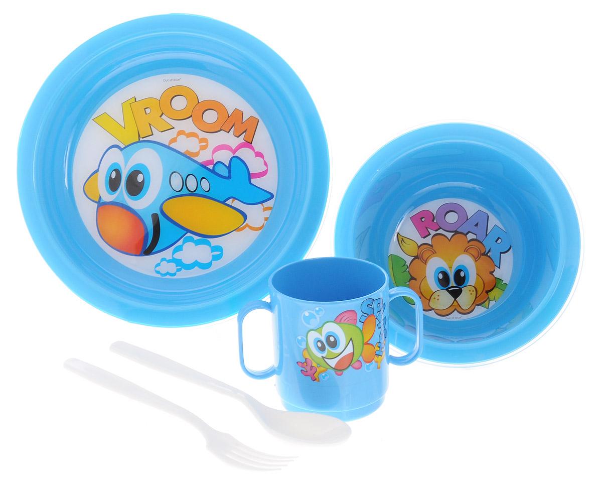Cosmoplast Набор детской посуды Baby Tris Set Самолет 5 предметов