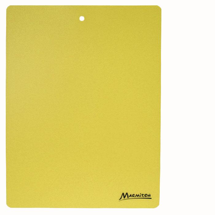 Доска разделочная Marmiton, гибкая, цвет: желтый, 38 см х 28 см17028_ желтыйГибкая разделочная доска Marmiton прекрасно подходит для разделки всех видов пищевых продуктов. Изготовлена из гибкого одноцветного пластика для удобства переноски и высыпания. Изделие оснащено отверстием для подвешивания на крючок.Можно мыть в посудомоечной машине.