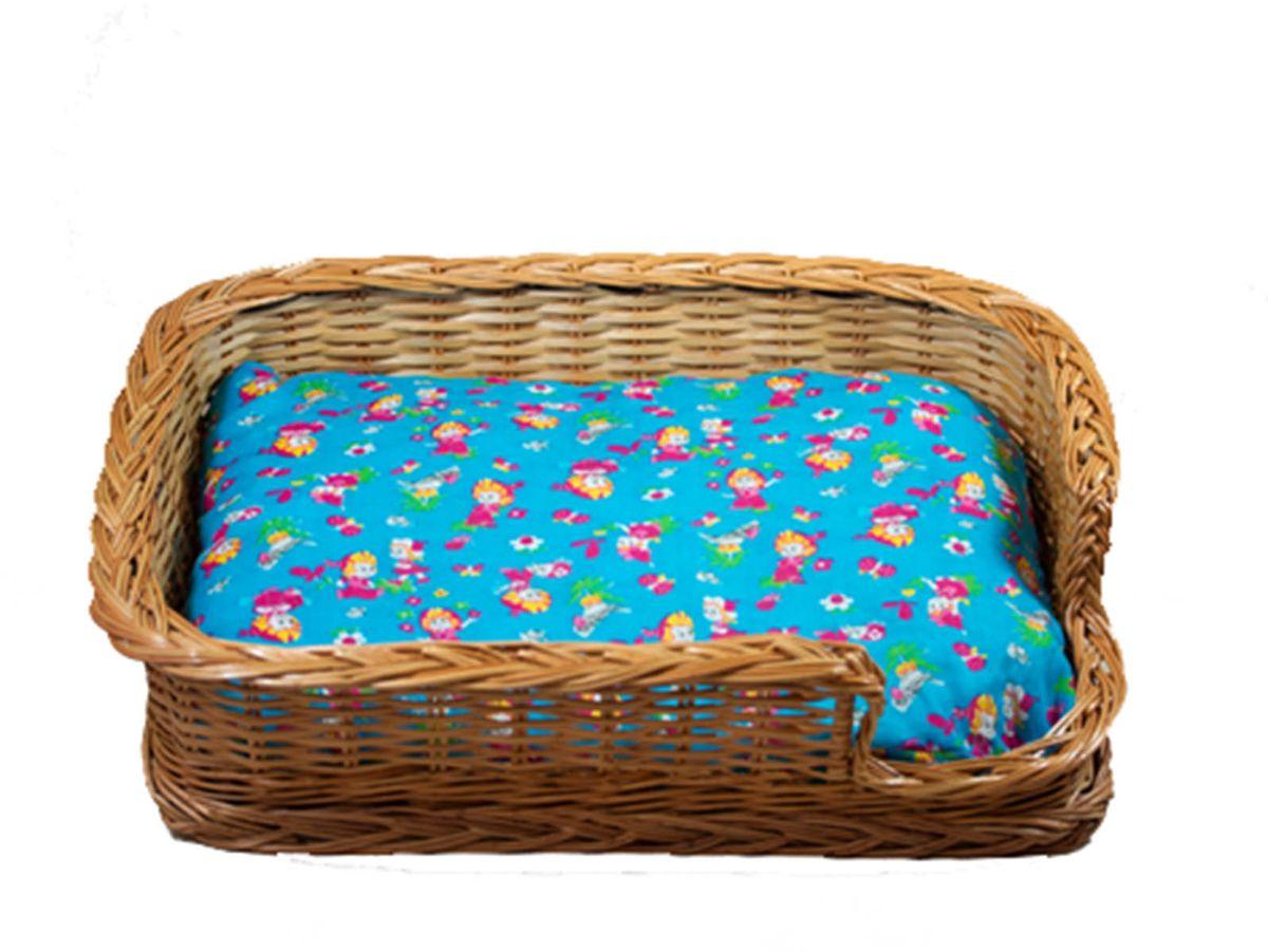 Лежак для животных из лозы Коробочка №1 50х40,5х14АРТ 327Домик, плетеный из лозы. Ручная работа. Натуральный ивовый прут.