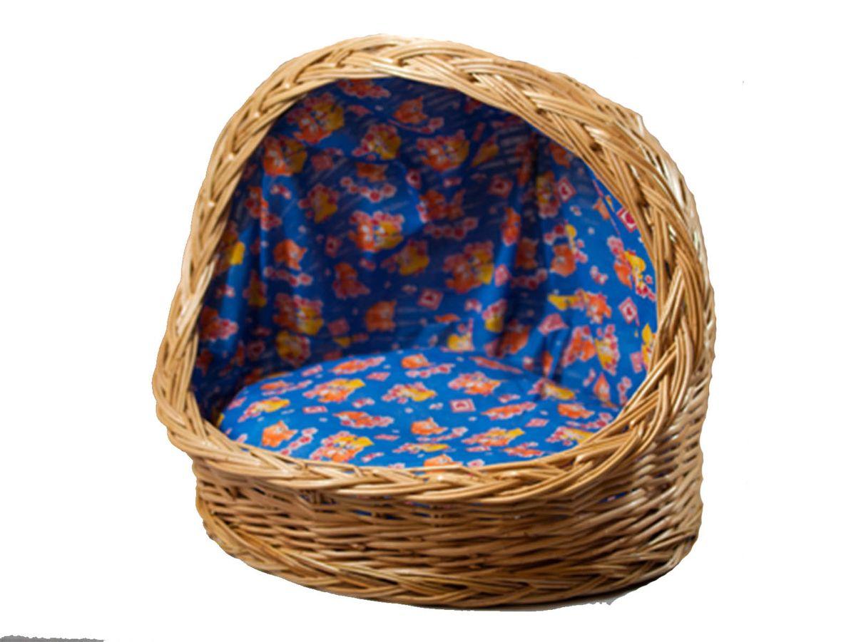Корзина для животных Меридиан, из лозы, №4, 52 х 40,5 х 50АРТ 376Домик, плетеный из лозы. Ручная работа. Натуральный ивовый прут.