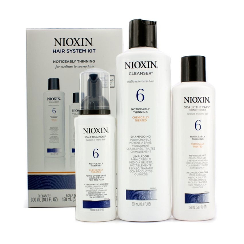 Nioxin System Набор (Система 6) 6 Kit 150 мл+150 мл+40 мл nioxin 3d styling thickening spray спрей для объема 150 мл