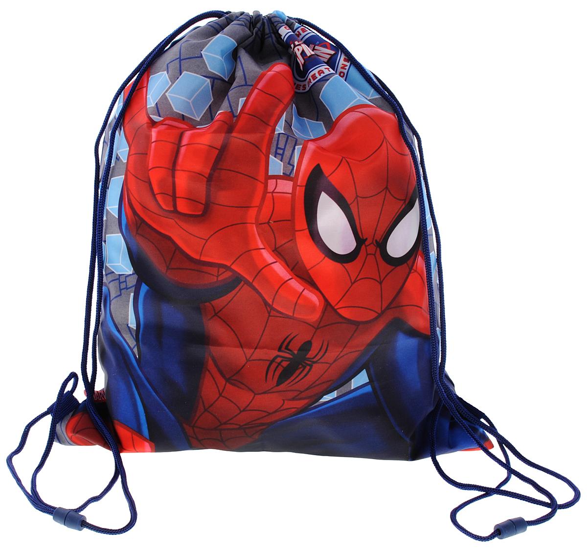 Spider-Man Мешок для обувиSMBB-UT2-883Мешок для обуви Spider-Man идеально подойдет как для хранения, так и для переноски сменной обуви и одежды. Сумка выполнена из прочного полиэстера и содержит одно вместительное отделение, затягивающееся с помощью текстильных шнурков. Шнурки фиксируются в нижней части сумки, благодаря чему ее можно носить за спиной как рюкзак.Оформлено изделие изображением Человека-паука.Ваш ребенок с радостью будет ходить с таким аксессуаром в школу!