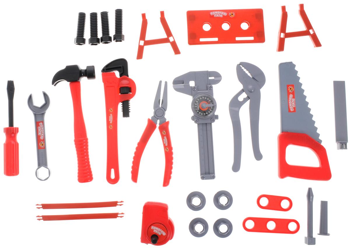 ABtoys Игровой набор Помогаю папе 27 предметов - Сюжетно-ролевые игрушки