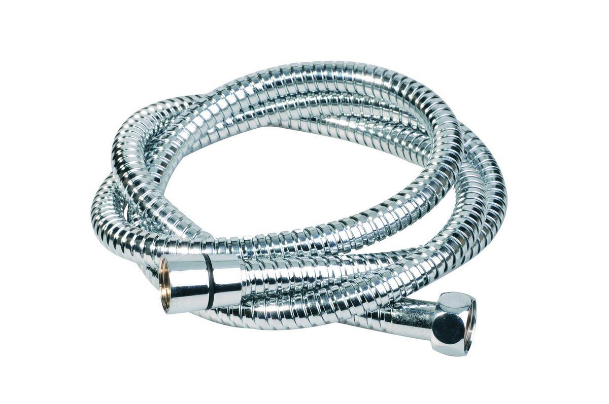 """Универсальный гибкий шланг для душа Argo """"Eur-S"""" с внешней оболочкой из нержавеющей стали, сочетает в себе отличные эксплуатационные характеристики и приятный дизайн.   Прочный и надежный шланг эргономичен и прост в монтаже, удобен в использовании.     Длина: 150 см.  Выходы шлага: 1/2"""".  Тип фитинга: гайка - конус с насечкой. Тип соединения оплетки: двойной замок."""