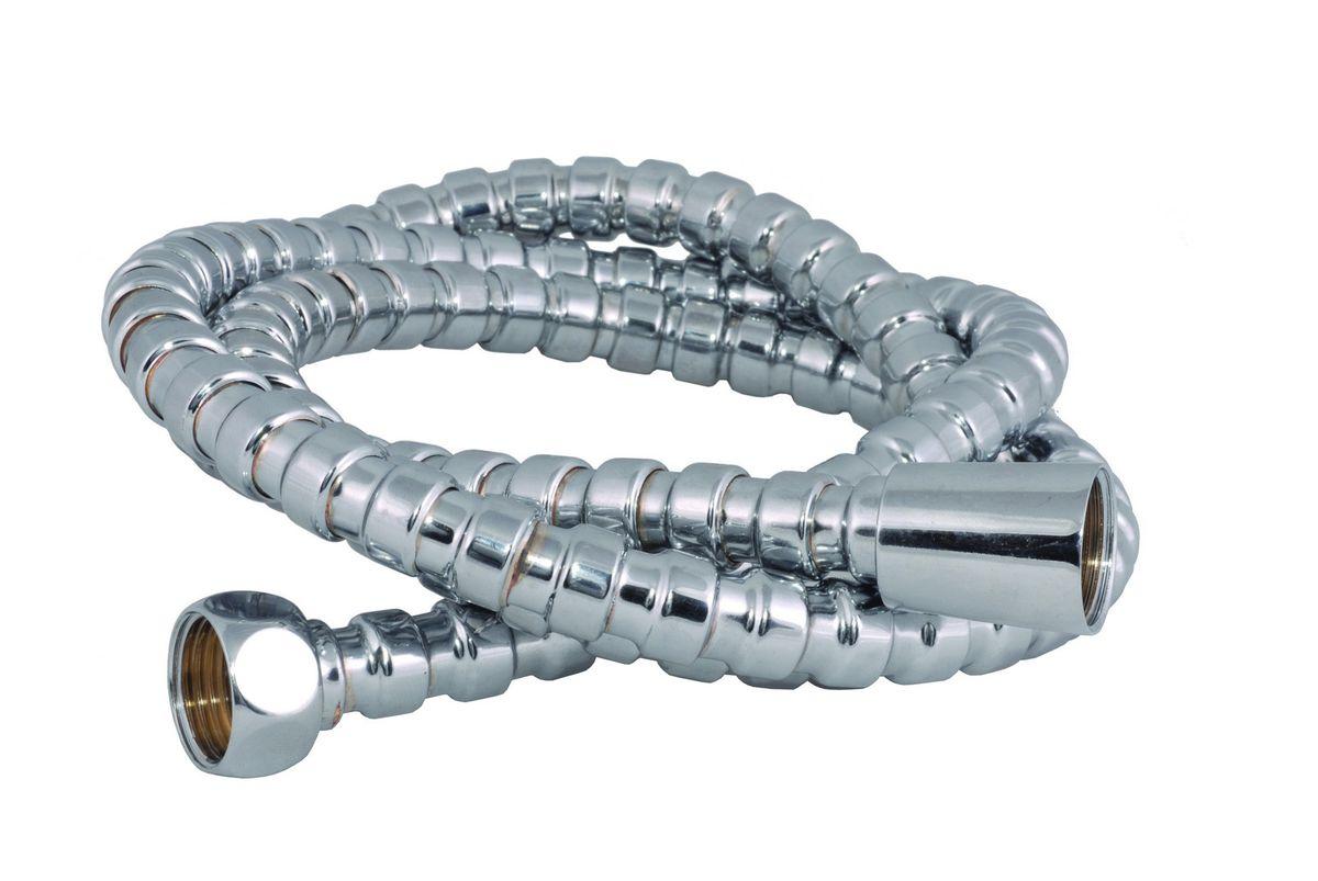 Шланг для душа Argo Eur-Link, 150 см. 3310433104Универсальный гибкий шланг для душа Argo Eur-Link с внешней оболочкой излатуни, сочетает в себе отличные эксплуатационные характеристикии приятный дизайн. Прочный и надежный шланг эргономичен и прост в монтаже, удобен виспользовании. Длина: 150 см. Выходы шлага: 1/2. Тип фитинга: гайка - конус.Тип соединения оплетки: цепь.