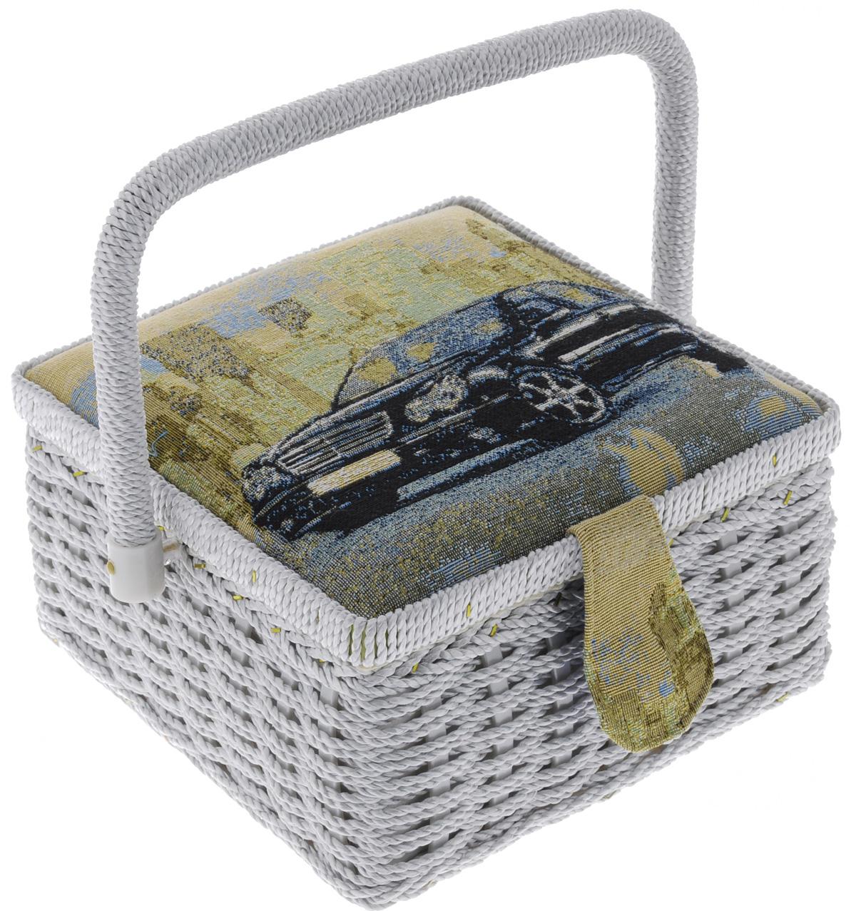 Шкатулка для рукоделия RTO Автомобиль, с вкладышем, 20 х 20 х 11 см шкатулка для бижутерии восьмиугольная 20 х 13 х 8 см
