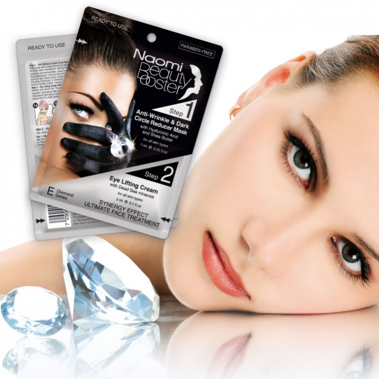 Naomi Комплексный уход за лицом: маска против морщин вокруг глаз, 7 мл и лифтинг-крем, 3 млKM 0036Концентрированная крем-маска с уникальной формулой воздействует непосредственно на темные круги и морщины вокруг глаз. Особый уход обеспечивает глубокое питание, уменьшая морщины, кожа становится более плотной, подтянутой и молодой!В состав геля входят минералы Мертвого моря, ингредиенты, замедляющие старение кожи, растительные экстракты и натуральные масла. Гель, проникая глубоко в кожу способствует обновлению ее клеток, минимизирует видимые морщинки.