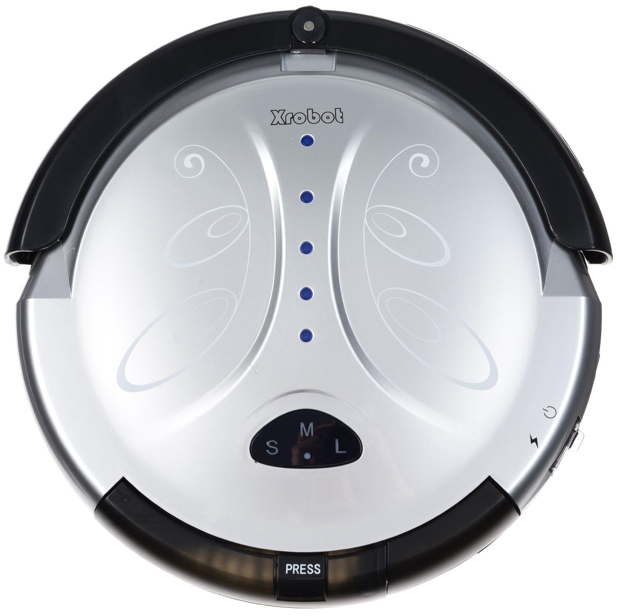 Xrobot A8, Silver Black робот-пылесосA8Пылесос Xrobot A8 представляет собой интеллектуальный, высокотехнологичный, полностью автоматическийприбор, который в основном применяется в домашних условиях, в отелях и небольших офисах для чисткиразличных ковров с коротким ворсом, деревянных полов, керамической плитки и т. д.Интеллектуальная функция: автоматическая уборка комнат, отсутствие ручного контроля во время всегопроцесса чистки.Автоматическая зарядка: когда батарея разряжается, робот-пылесос автоматически ищет базу длязарядки и осуществляет зарядку. Ручная зарядка: робот-пылесос можно также заряжать вручную с помощью зарядного устройства.Автоматическая чистка: после установки этой функции робот-пылесос автоматически продолжит работу послеполной зарядки.Функция защиты от падения: в нормальных условиях работы предотвращает падение робота-пылесоса со столаили лестницыФункция отложенного старта чистки позволяет выполнить зарядку в течение 4-5 часов и начать работу взаданное время.Ограничитель перемещения позволяет роботу-пылесосу заходить лишь в предназначенные для уборкипомещения.Боковая щетка установлена с правой стороны устройства и позволяет легко выполнять чистку в углах или скраю комнаты.Ультратонкий корпус позволяет легко осуществить чистку в труднодоступных местах, под и вокруг мебели, вуглах и вдоль стен.Колеса изготовлены из мягкой резины и не повреждают паркетное покрытие или ковер.Батарейка пульта ДУ: тип D (не входит в комплект)Батарейки ограничителя: 2xAAA (не входят в комплект)Емкость аккумулятора: 1500/1700 мАчВремя первой зарядки: 12 чВремя обычной зарядки: 4-5 ч