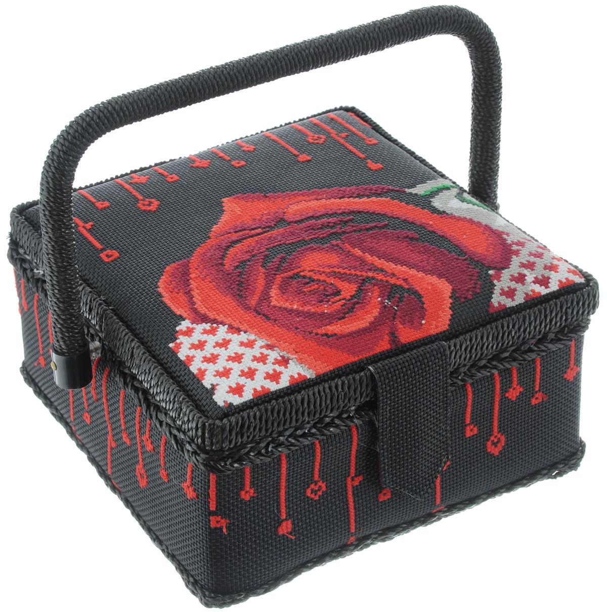 Шкатулка для рукоделия RTO Романтика, 20 х 20 х 11 см шкатулка для бижутерии восьмиугольная 20 х 13 х 8 см