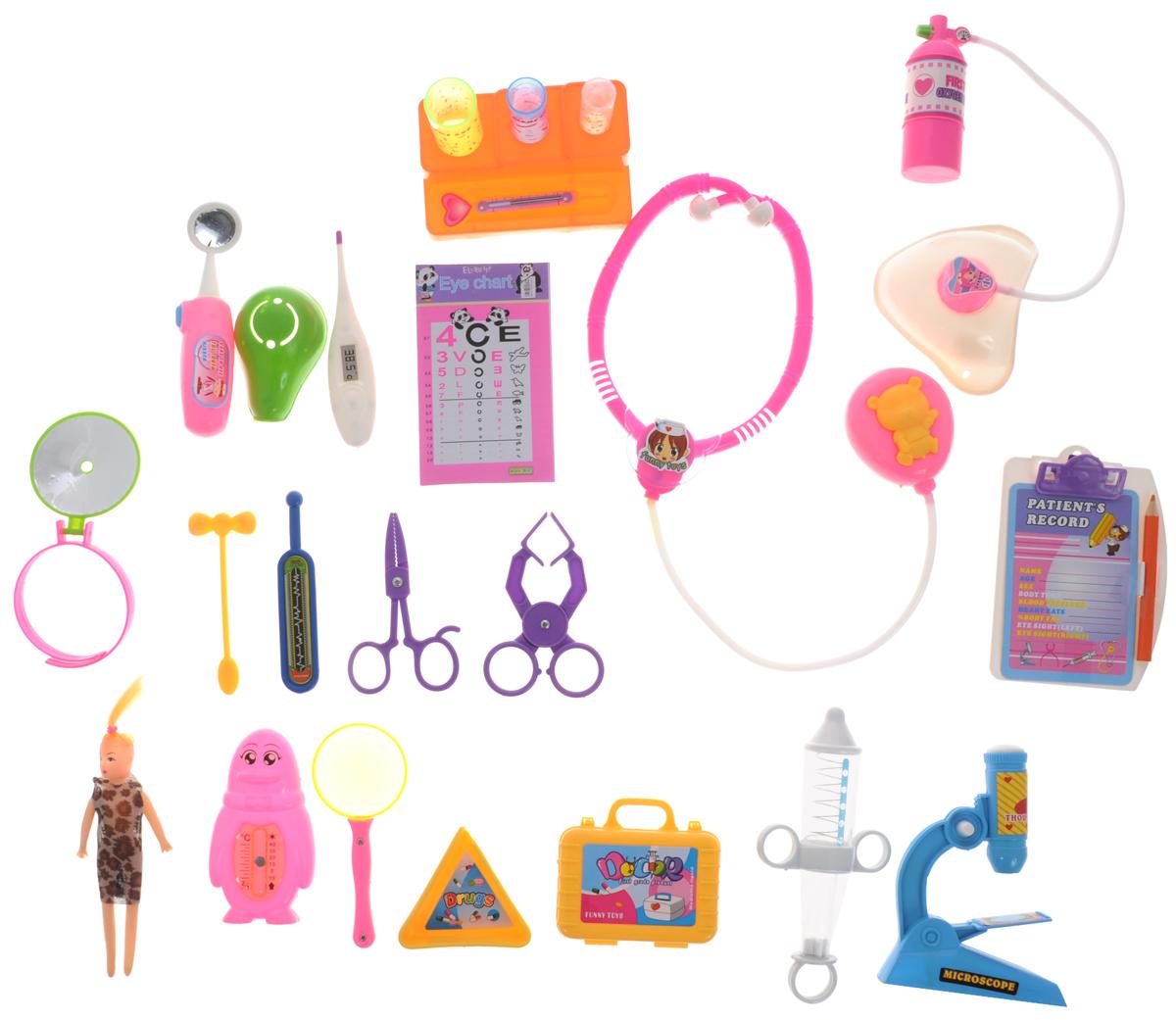 Junfa Toys Игровой набор My Family Doctor 23 предмета игровой набор playmates toys патрульные багги леонардо и донателло