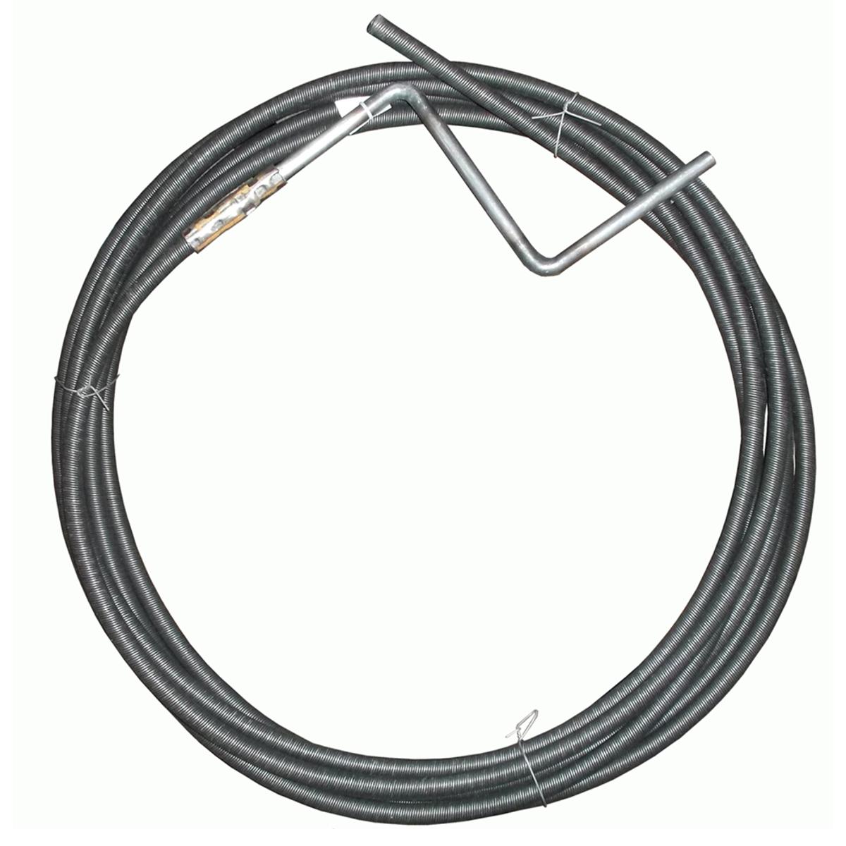 Трос для прочистки канализационных труб МастерПроф, толщина 9 мм, длина 2,5 мИС.130035Трос пружинный, утолщенный, витой, с приваренной ручкой, предназначен для прочистки засоров в канализационных трубах. Трос изготовлен из черной пружинной проволоки диаметром 1,4 мм, представляет собой спираль, распущенную на конус и с ручкой в виде кривого вала. Гибкий вал является одним из самых эффективных и доступных методов прочистки канализации от засоров. Во время работы с данным инструментом рекомендуется применять защитные средства: перчатки, маску, очки. Толщина: 9 мм. Длина: 2,5 м.