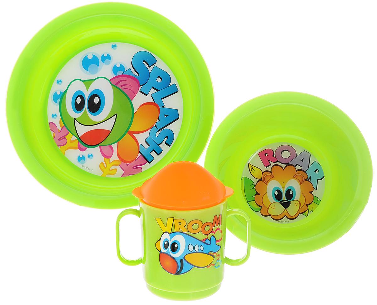 Cosmoplast Набор детской посуды Baby Tris Set Рыбка 3 предмета2548_салатовыйНабор детской посуды Cosmoplast Baby Tris Set. Рыбка состоит из суповой тарелки, обеденной тарелки, чашки с двумя ручками и крышки, при помощи которой чашку можно сделать поильником. Все предметы набора изготовлены из высококачественного пищевого пластика по специальной технологии, которая гарантирует простоту ухода, прочность и безопасность изделий для детей. Предметы сервиза оформлены красочными рисунками, которые обязательно понравятся вашему малышу.Не содержит бисфенол.