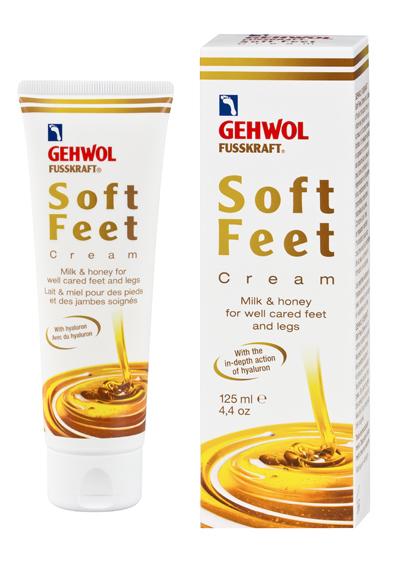 Gehwol Soft Feet Creme - Шелковый крем для ног Молоко и мед с гиалуроновой кислотой 125 мл1*12407В составе Геволь Шелковый крем богатое витаминами масло авокадо, экстракт меда и молочные пептиды, придающие коже упругость, гладкость и ухоженный вид. Гиалуроновая кислота, произведенная по специальной биотехнологии, способствует регенерации кожи и усиливает её защитные свойства. В сочетании с мочевиной гиалуроновая кислота удерживает влагу в глубоких слоях кожи, а также предотвращает появление загрубевшей кожи. Экстракт меда хорошо увлажняет, смягчает кожу, оказывает регенерирующее и легкое антибактериальное действие. Используется для ухода за сухой и чувствительной кожей, помогает снять раздражение. Молочные протеины оказывают эффективное увлажняющее и смягчающее действие на кожу. Крем обладает нежным и приятным медовым запахом. Рекомендуется для ухода за диабетической стопой.Как ухаживать за ногтями: советы эксперта. Статья OZON Гид