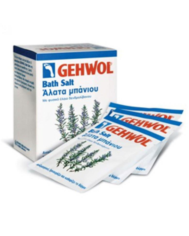 Gehwol Bath Salt - Соль для ванны с розмарином для ног 10*25 гр1*25222Соль для ванны с розмарином Геволь (Gehwol Bath Salt) производит мягкую, но в основательную очистку, стимулирует кровообращение кожи, оживляет ее и укрепляет. Снимающие боль компоненты глубоко проникают сквозь поры кожи и предотвращают повышенное потоотделение и появление запаха от ног.Соль для ванны Геволь подходит как для ванночек для ног, так и для принятия полных ванн для всего тела. Регулярное принятие таких ванн защищает ноги от грибковых инфекций. Ванна обладает нежным ароматом розмарина. Подводный массаж с помощью щетки усиливает от принятия ванны эффект.Назначение:Стимулирует и активизирует кровообращение.Предотвращает чрезмерное потоотделение.Обладает дезодорирующим эффектом.Регулярное применение ванны защищает от грибковых инфекций.Активные компоненты: розмариновое масло, триклозан.