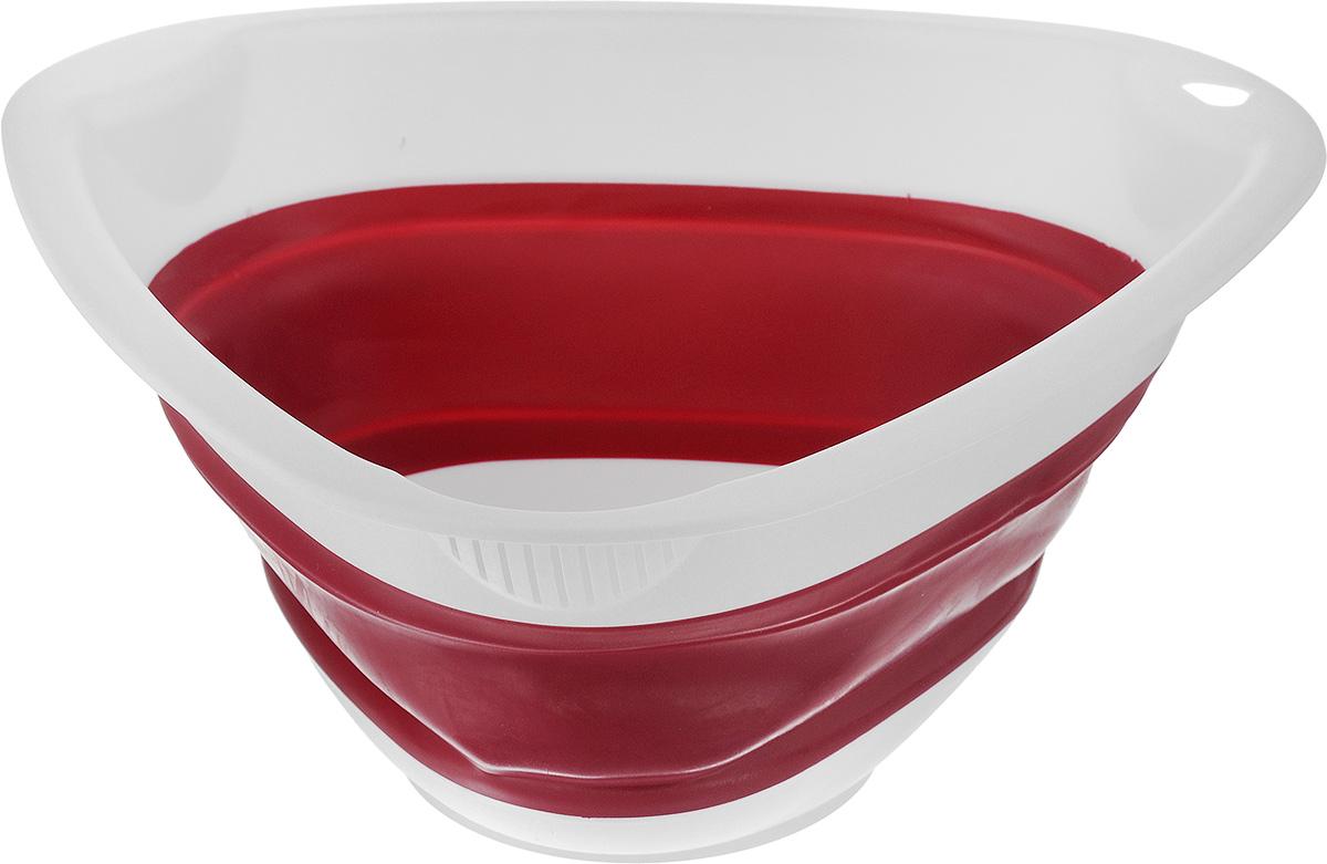Миска складная Calve, цвет: красный, 27 x 26 x 4,5 см миска moderna smarty bowl с антискольжением цвет бордовый 19 х 7 см