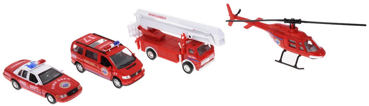 Welly Игровой набор Пожарная служба 4 предмета welly welly набор служба спасения скорая помощь 4 штуки