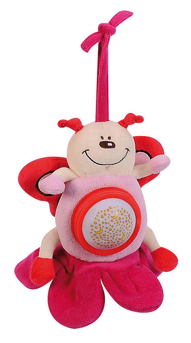 Simba Музыкальная игрушка-подвеска Плюшевые насекомые цвет розовый simba музыкальная гитара на батарейка с 12 мес