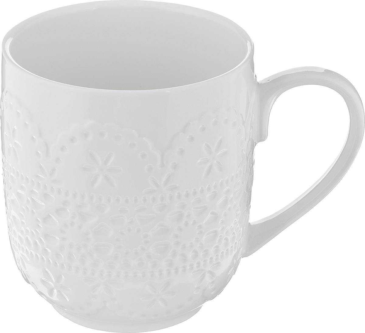 Кружка Walmer Charlotte, цвет: белый, 300 млW07320030Кружка Walmer Charlotte изготовлена из высококачественного фарфора. Изделие оформлено изысканным рельефным орнаментом.Такая кружка прекрасно оформит стол к чаепитию и станет его неизменным атрибутом. Не рекомендуется применять абразивные моющие средства.Диаметр (по верхнему краю): 8 см.Высота: 9,5 см.