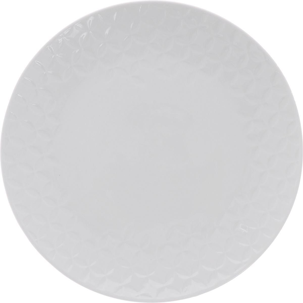 Тарелка десертная Walmer Quincy, цвет: белый, диаметр 21 см горшок для запекания walmer classic цвет белый диаметр 12 см