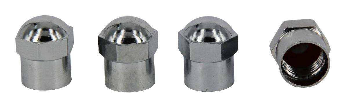 Набор металлических колпачков для ниппеля колеса МастерПроф, хромированные, 4 шт, МастерПроф / MasterProf