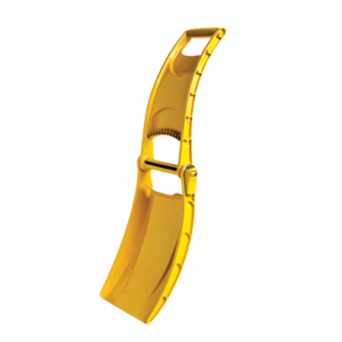 Лопата-трансформер МастерПроф, цвет: желтыйАС.110006Лопата-трансформер МастерПроф выполнена из высококачественного полипропилена, имеет гладкую износостойкую поверхность, ребра жесткости и удобную ручку, конструкция которой защищает руки во время работы. Материал лопаты морозостоек. Выдержит перепады температуры от +50 до -50 0С без опасения, что к нему примерзнут перчатки или руки. Можно использовать как ограждение или предупреждающий знак. В сложенном виде имеет габариты 42 х 25 х 8 см, почти не занимает места в багажнике автомобиля, удобно крепится к рюкзаку, велосипеду или снегоходу.Складной механизм на основе массивного металлического стержня жестко фиксируется, лопата свободно поднимает вес до 12 кг. Длина: 42 см. Ширина: 25 см. Глубина: 8 см.