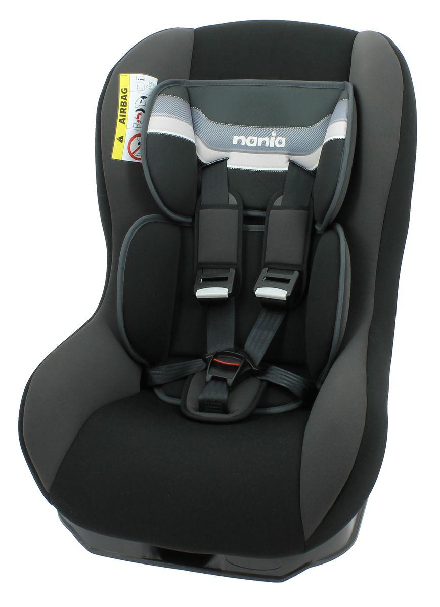 Nania Автокресло Driver First Horizon Black до 18 кг46603Автокресло Nania Driver First группы 0-1 предназначено для детей весом до 18 кг.Автокресло имеет специальный мягкий вкладыш и подголовник. 3 положения спинки. 5-ти точечный ремень безопасности с удобной системой натяжения. Новая система крепления автокресла облегчает его установку в автомобиль. Прочный каркас анатомической формы из полипропилена. Поглощающая силу удара прослойка из полистирола. Пятиточечные ремни безопасности с 3-мя уровнями регулировки по высоте. Мягкий вкладыш под спину, который позволяет перевозить совсем маленьких детей. 2 дополнительные подушки. Направление установки: против движения - до 9 кг, потом по ходу движения.Технические характеристики: Внешние размеры (Д х Ш х В): 54 x 45 x 61 см. Внутренние размеры (Д х Ш): 31 x 31 см. Высота спинки: 55 см. Вес: 5,7 кг. Ткань: 100% полиэстер.