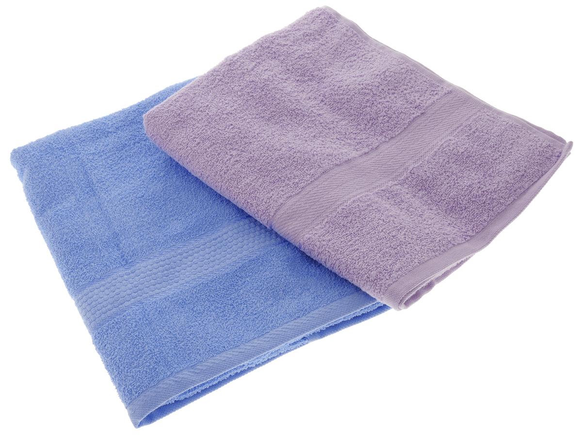 Набор махровых полотенец Aisha Home Textile, цвет: голубой, сиреневый, 70 х 140 см, 2 штУзТ-ПМ-104-06-05Набор Aisha Home Textile состоит из двух махровых полотенец, выполненных изнатурального 100% хлопка. Изделия отлично впитывают влагу, быстро сохнут,сохраняют яркость цвета и не теряют формы даже после многократных стирок. Полотенца Aisha Home Textile очень практичны и неприхотливы в уходе.Комплектация: 2 шт.