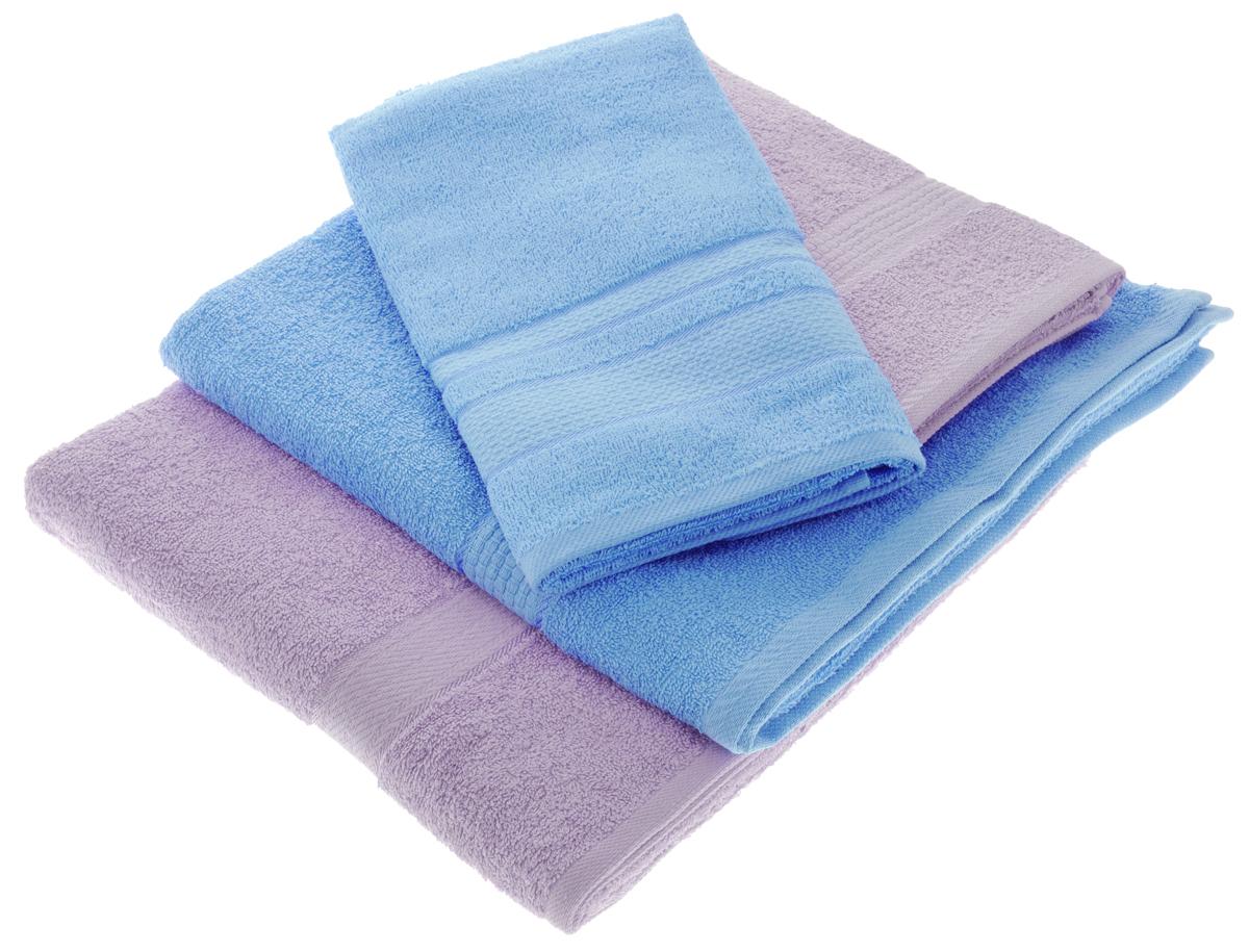 Набор махровых полотенец Aisha Home Textile, цвет: голубой, сиреневый, 4 штУзТ-ПМ-103-06-05Набор Aisha Home Textile состоитиз двух полотенец 50 х 90 сми двух банных 70 х 140 см.Полотенца выполнены изнатурального 100% хлопкаи махровой ткани.Изделия отлично впитывают влагу,быстро сохнут, сохраняют яркостьцвета и не теряют формы дажепосле многократных стирок. Полотенца Aisha Home Textile оченьпрактичны и неприхотливы в уходе.Комплектация: 4 шт.