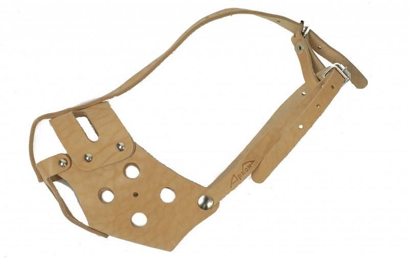 Намордник для собак Аркон, цвет: бежевый. Размер 32 см. н32бс комплект для собак аркон стандарт 6 цвет красный 2 предмета