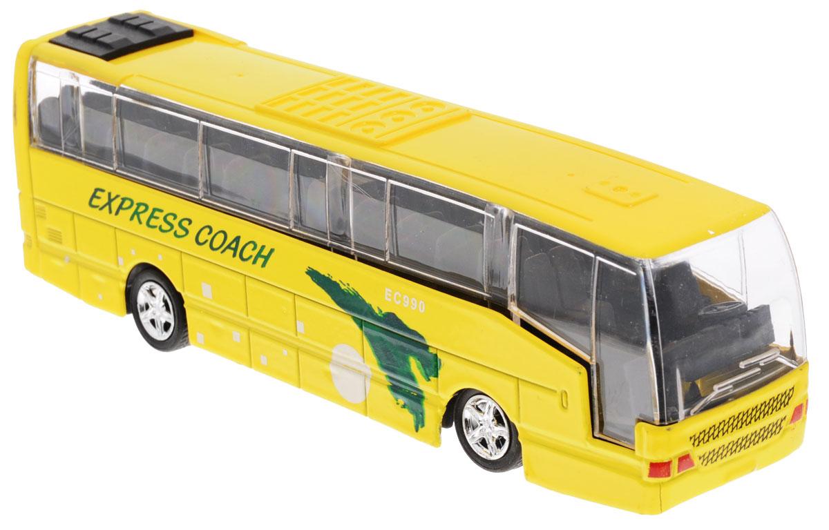 Big Motors Автобус инерционный Cheerful Bus цвет желтый uni fortune toys модель автобуса volkswagen t1 transporter цвет желтый синий