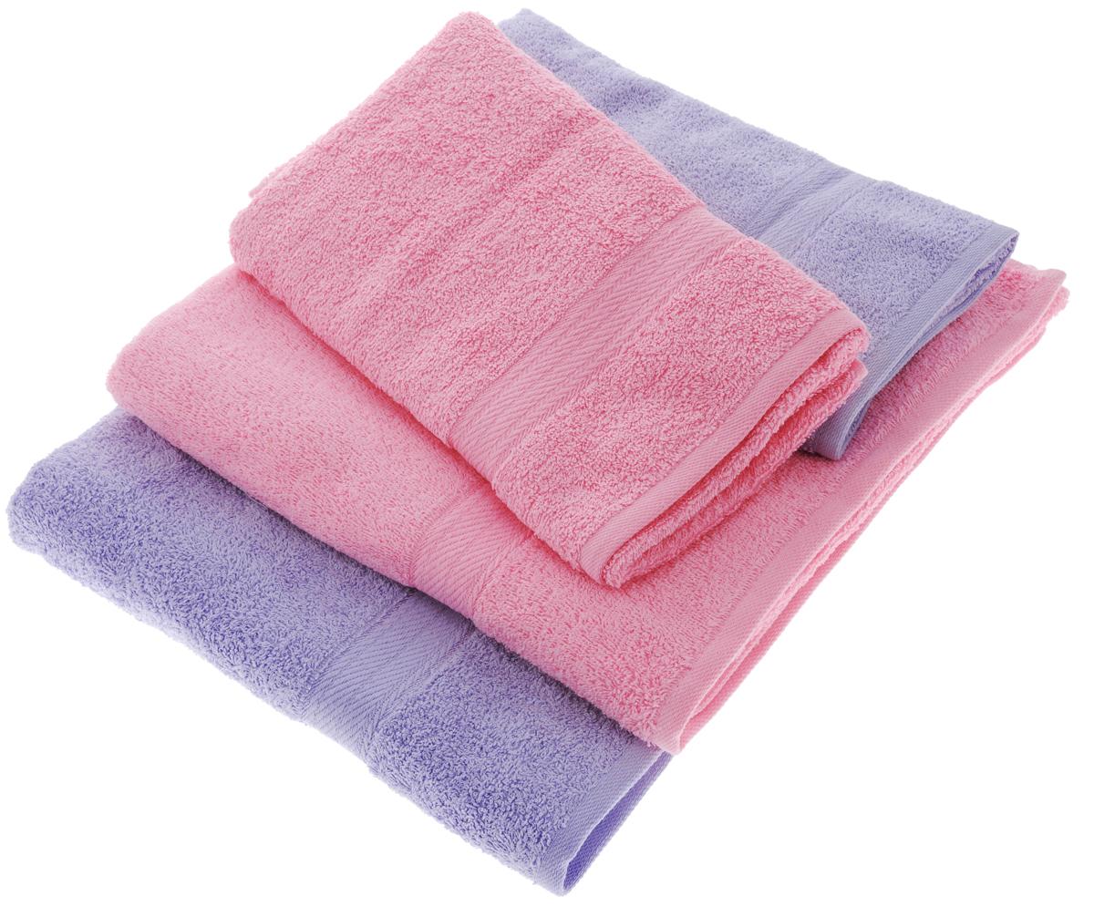Набор махровых полотенец Aisha Home Textile, цвет: сиреневый, розовый, 4 штУзТ-ПМ-103-05-04Набор Aisha Home Textile состоит из двух полотенец 50 х 90 см и двух банных 70 х 140 см. Полотенца выполнены из натурального 100% хлопка и махровой ткани. Изделия отлично впитывают влагу, быстро сохнут, сохраняют яркость цвета и не теряют формы даже после многократных стирок.Полотенца Aisha Home Textile очень практичны и неприхотливы в уходе. Комплектация: 4 шт.