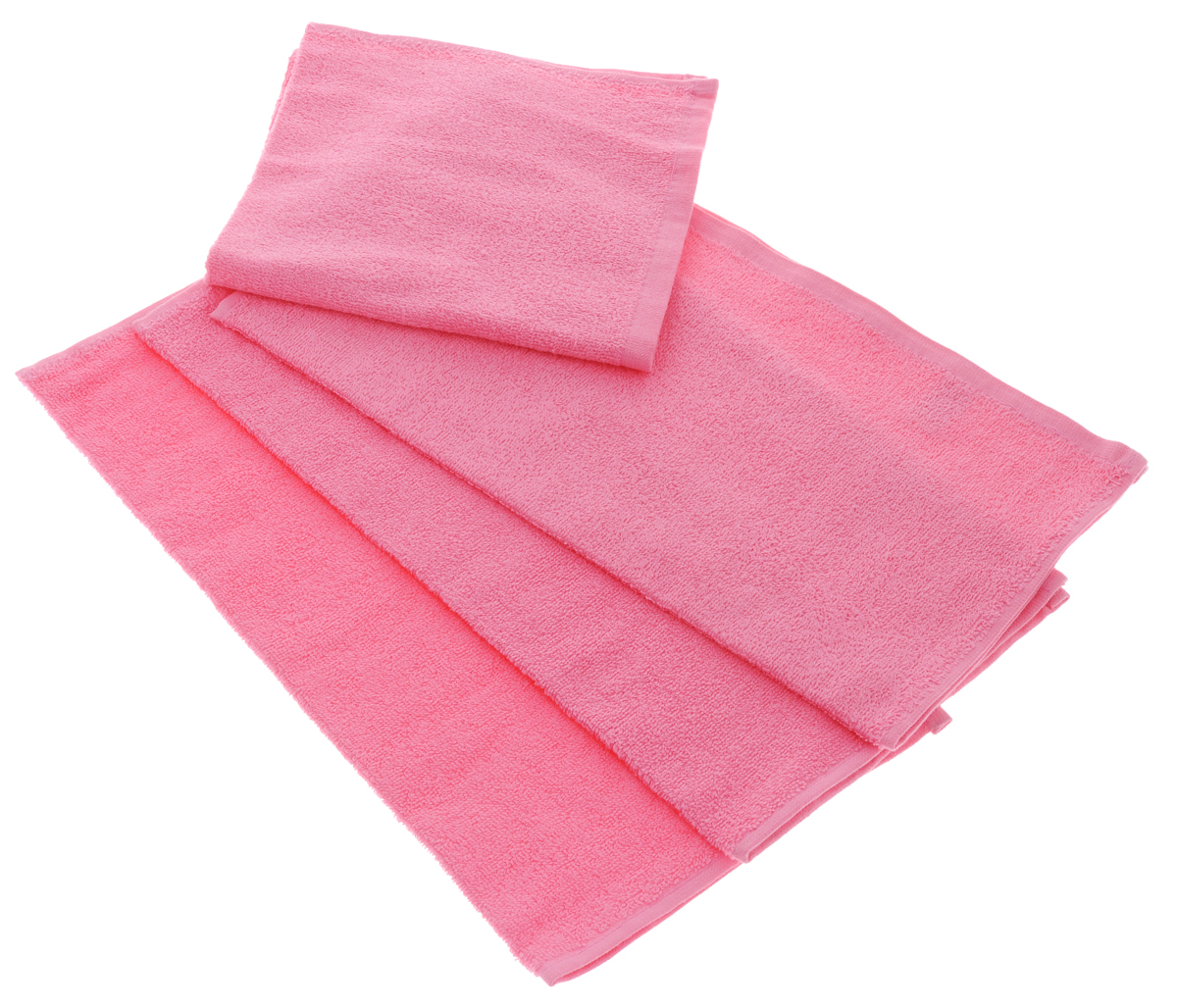 """Набор махровых полотенец """"Aisha Home Textile"""", цвет: розовый, 40 х 40 см, 4 шт"""