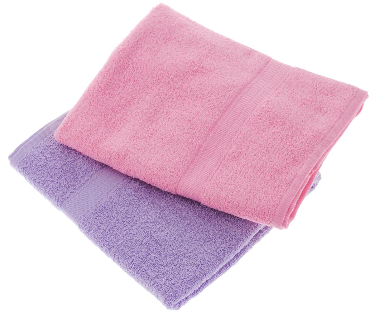 Набор махровых полотенец Aisha Home Textile, цвет: сиреневый, розовый, 70 х 140 см, 2 штУзТ-ПМ-104-05-04Набор Aisha Home Textile состоит из двух махровых полотенец, выполненных изнатурального 100% хлопка. Изделия отлично впитывают влагу, быстро сохнут,сохраняют яркость цвета и не теряют формы даже после многократных стирок. Полотенца Aisha Home Textile очень практичны и неприхотливы в уходе.Комплектация: 2 шт.