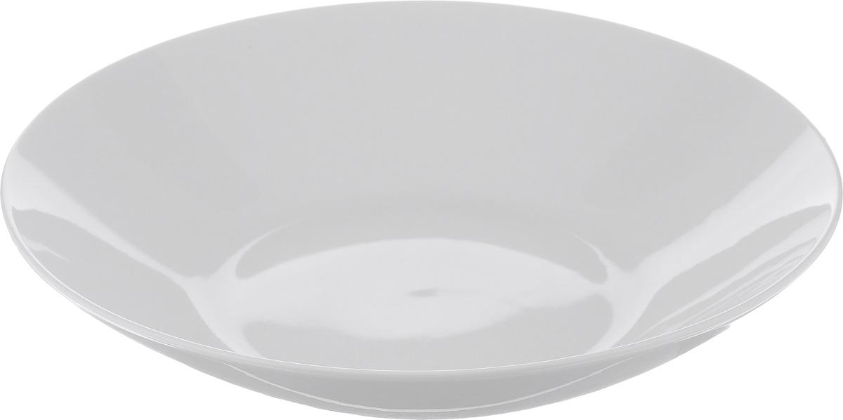 Тарелка глубокая Tescoma Crema, диаметр 22 см387030Тарелка Tescoma Crema выполнена из высококачественного фарфора и прекрасно подойдет для вашей кухни. Такая тарелка изысканно украсит сервировку как обеденного, так и праздничного стола. Предназначена для подачи супов и других жидких блюд.