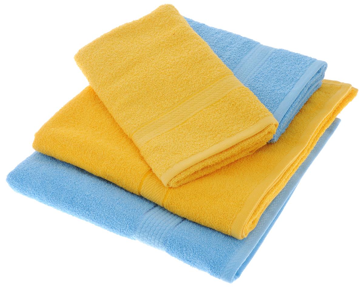 Набор махровых полотенец Aisha Home Textile, цвет: желтый, голубой, 4 штПМж-70-140Набор Aisha Home Textile состоитиз двух полотенец 50 х 90 сми двух банных 70 х 140 см.Полотенца выполнены изнатурального 100% хлопкаи махровой ткани.Изделия отлично впитывают влагу,быстро сохнут, сохраняют яркостьцвета и не теряют формы дажепосле многократных стирок. Полотенца Aisha Home Textile оченьпрактичны и неприхотливы в уходе.Комплектация: 4 шт.