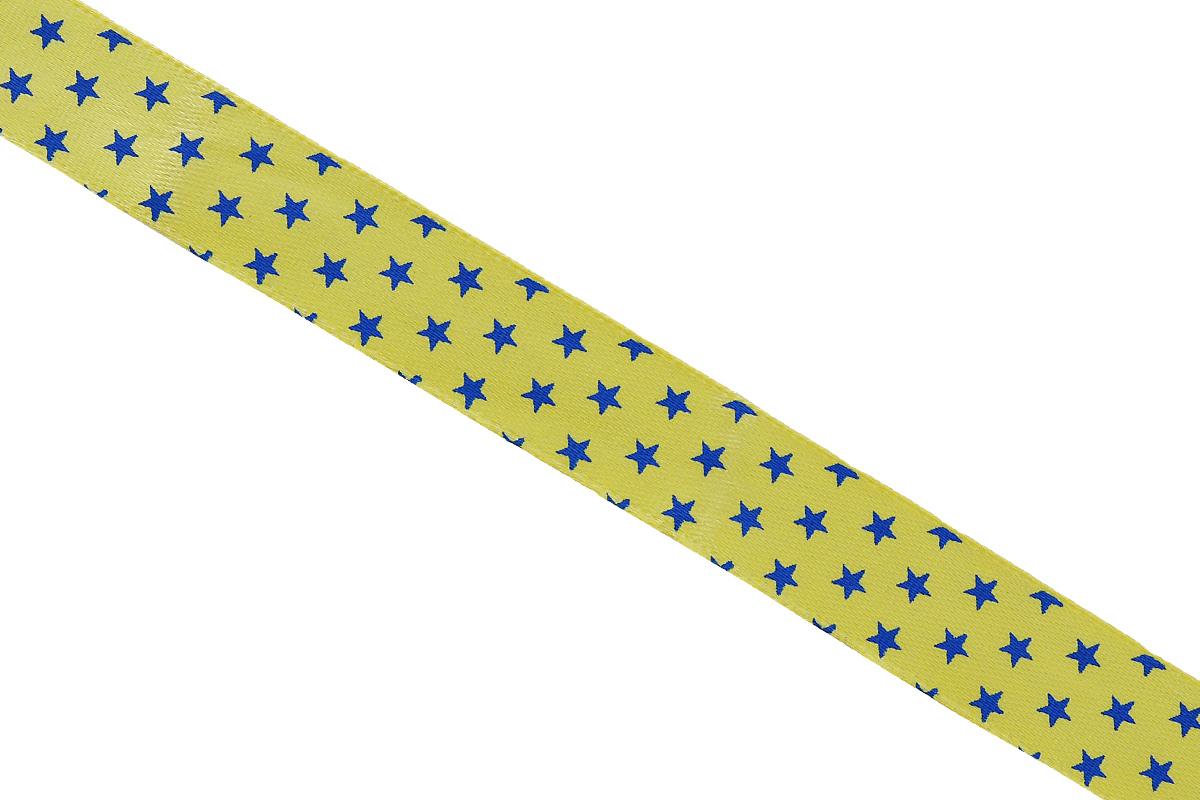 Лента атласная Dekor Line Звездочки, цвет: желтый, синий, 1,5 х 300 см7710558_желтыйАтласная лента Dekor Line Звездочки выполнена из высококачественного полиэстера. Область применения атласной ленты весьма широка. Лента предназначена для оформления цветочных букетов, подарочных коробок, пакетов. Кроме того, она с успехом применяется для художественного оформления витрин, праздничного оформления помещений, изготовления искусственных цветов. Ее также можно использовать для творчества в различных техниках, таких как скрапбукинг, оформление аппликаций, для украшения фотоальбомов, подарков, конвертов, фоторамок, открыток и прочего.Ширина ленты: 1,5 см.Длина ленты: 3 м.