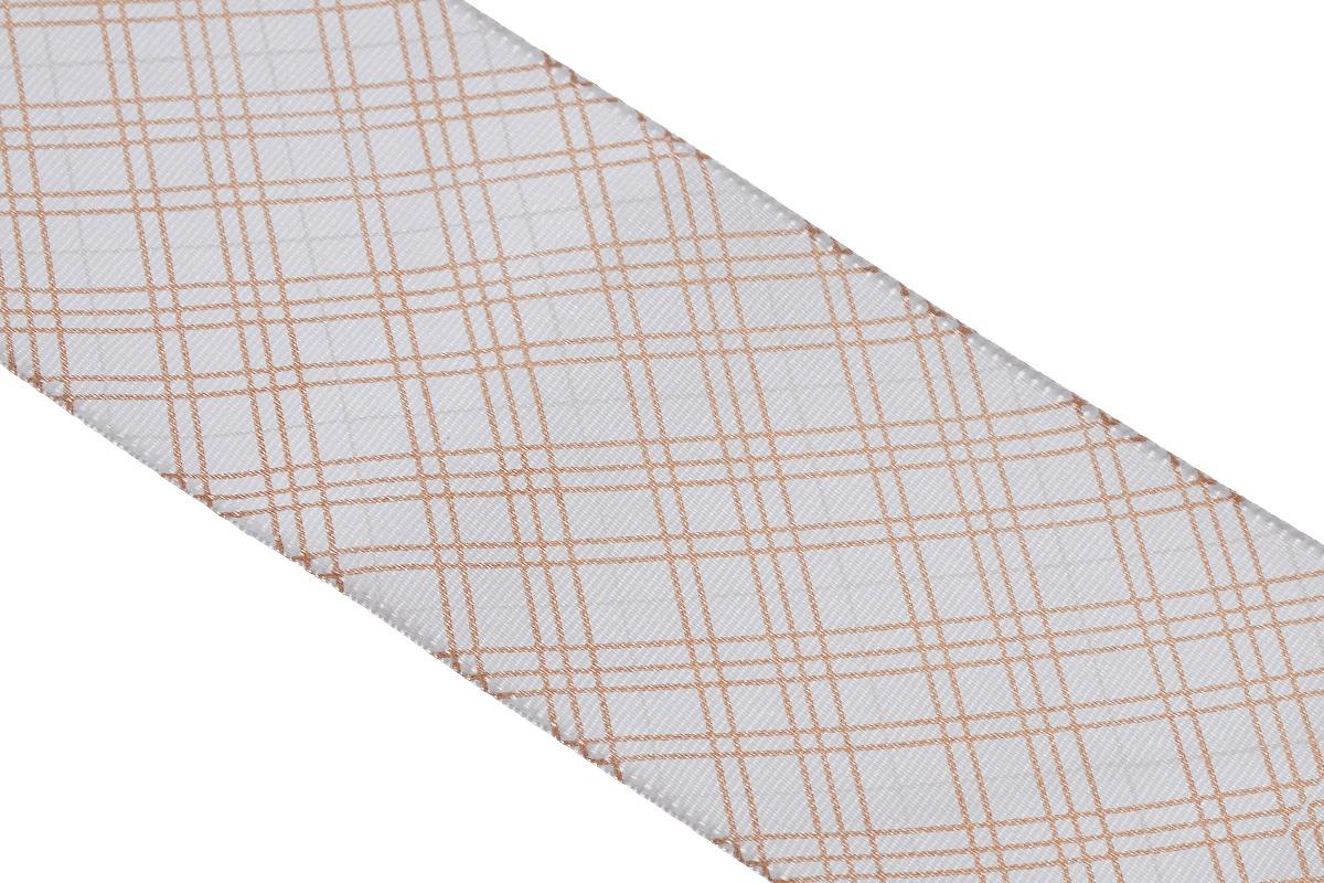Лента атласная Dekor Line Пересечение, цвет: светло-серый, коричневый, 4,5 х 300 см7710580_белыйАтласная лента Dekor Line Пересечение выполнена из высококачественного полиэстера. Область применения атласной ленты весьма широка. Лента предназначена для оформления цветочных букетов, подарочных коробок, пакетов. Кроме того, она с успехом применяется для художественного оформления витрин, праздничного оформления помещений, изготовления искусственных цветов. Ее также можно использовать для творчества в различных техниках, таких как скрапбукинг, оформление аппликаций, для украшения фотоальбомов, подарков, конвертов, фоторамок, открыток и прочего.Ширина ленты: 4,5 см.Длина ленты: 3 м.