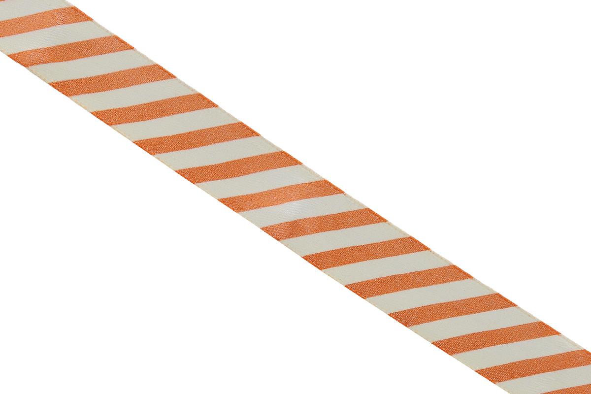 Лента атласная Dekor Line Диагональ, цвет: оранжевый, белый, 1,5 х 300 см7710552_оранжевыйАтласная лента Dekor Line Диагональ выполнена из высококачественного полиэстера. Область применения атласной ленты весьма широка. Лента предназначена для оформления цветочных букетов, подарочных коробок, пакетов. Кроме того, она с успехом применяется для художественного оформления витрин, праздничного оформления помещений, изготовления искусственных цветов. Ее также можно использовать для творчества в различных техниках, таких как скрапбукинг, оформление аппликаций, для украшения фотоальбомов, подарков, конвертов, фоторамок, открыток и прочего.Ширина ленты: 1,5 см.Длина ленты: 3 м.