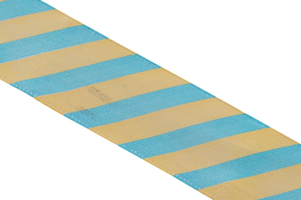 Лента атласная Dekor Line Диагональ, цвет: желтый, голубой, 2,5 х 300 см7710_желто-голубойАтласная лента Dekor Line Диагональ выполнена из высококачественного полиэстера. Область применения атласной ленты весьма широка. Лента предназначена для оформления цветочных букетов, подарочных коробок, пакетов. Кроме того, она с успехом применяется для художественного оформления витрин, праздничного оформления помещений, изготовления искусственных цветов. Ее также можно использовать для творчества в различных техниках, таких как скрапбукинг, оформление аппликаций, для украшения фотоальбомов, подарков, конвертов, фоторамок, открыток и прочего.Ширина ленты: 2,5 см.Длина ленты: 3 м.