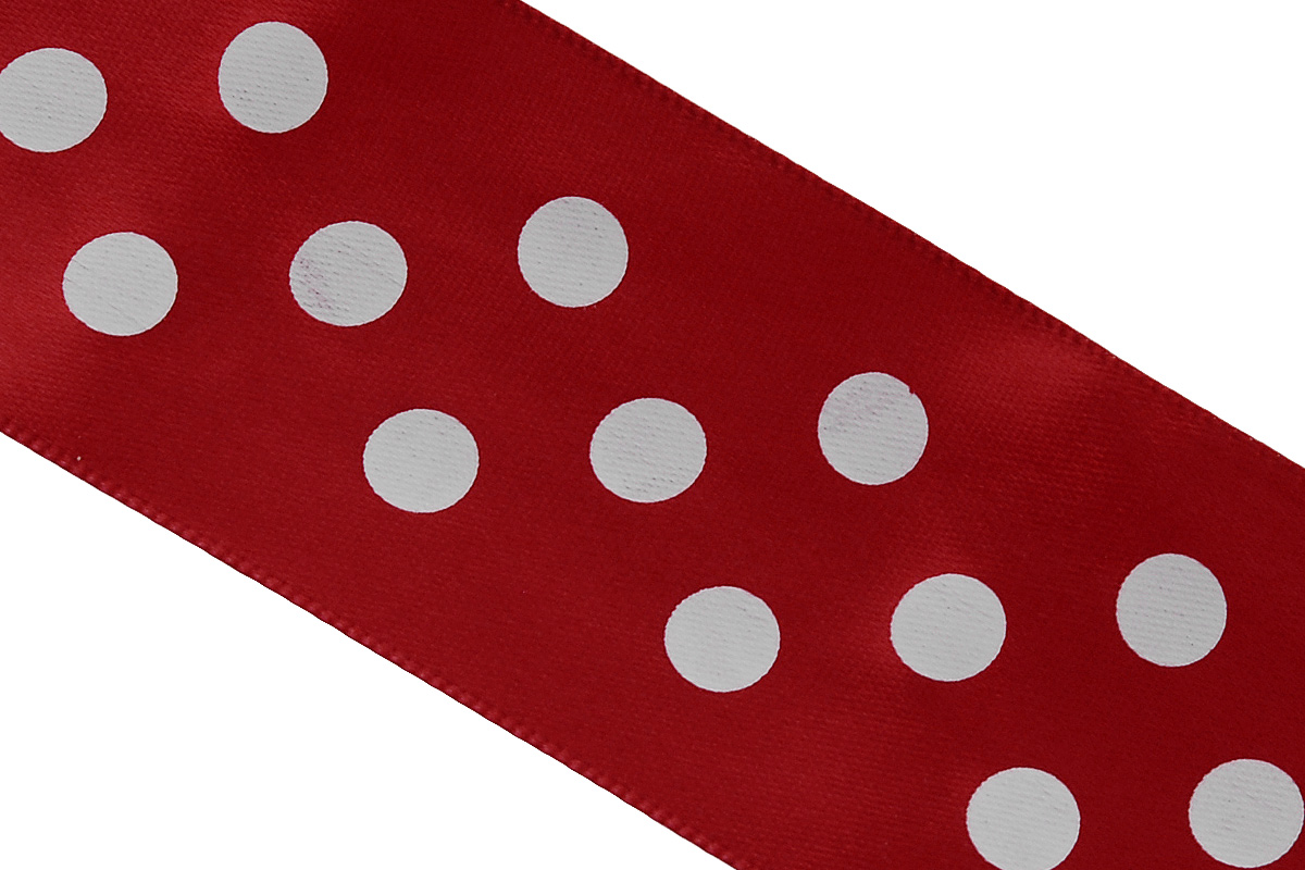 Лента атласная Dekor Line Горошек, цвет: красный, белый, 4,5 х 300 см7710583_красныйАтласная лента Dekor Line Горошек выполнена из высококачественного полиэстера. Область применения атласной ленты весьма широка. Лента предназначена для оформления цветочных букетов, подарочных коробок, пакетов. Кроме того, она с успехом применяется для художественного оформления витрин, праздничного оформления помещений, изготовления искусственных цветов. Ее также можно использовать для творчества в различных техниках, таких как скрапбукинг, оформление аппликаций, для украшения фотоальбомов, подарков, конвертов, фоторамок, открыток.Ширина ленты: 4,5 см.Длина ленты: 3 м.
